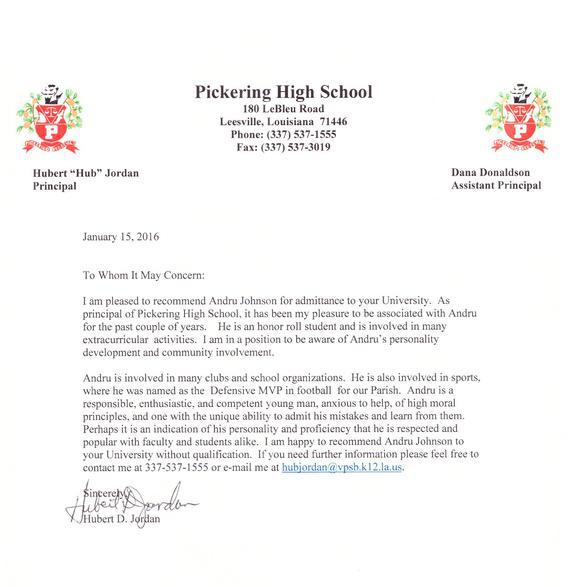 letter of recommendation for assistant principal position hola